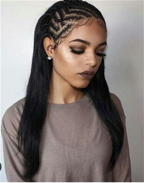 2 braids in front hair down hairstyle long natural hair 40 tree braids styles