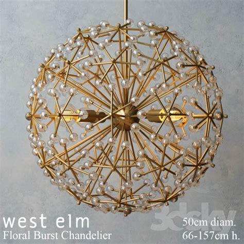West Elm Chandelier 3d Models Ceiling Light West Elm Floral Burst Chandelier