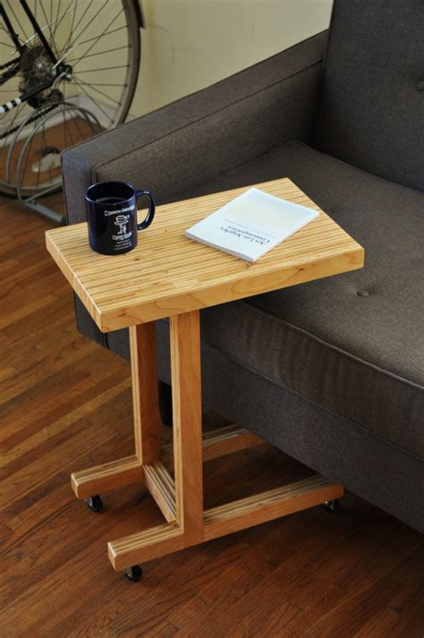 How To Build A Sofa Table Handmade Plywood Side Table
