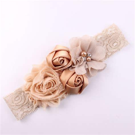1 pieces new 2016 fashion baby headband rhinestone lace 2016 new lace baby headband chic lace mix 4 flower