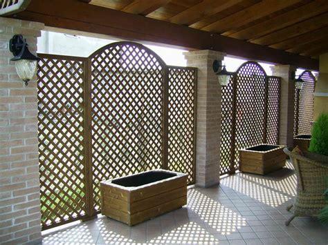 ringhiera in legno per giardino paravento per esterno ikea con grigliati e frangivento da