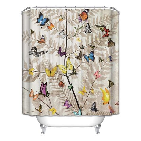 Animal Shower Curtains Animal Theme Waterproof Bathroom Shower Curtain Polyester Home Decor 12 Hooks Ebay