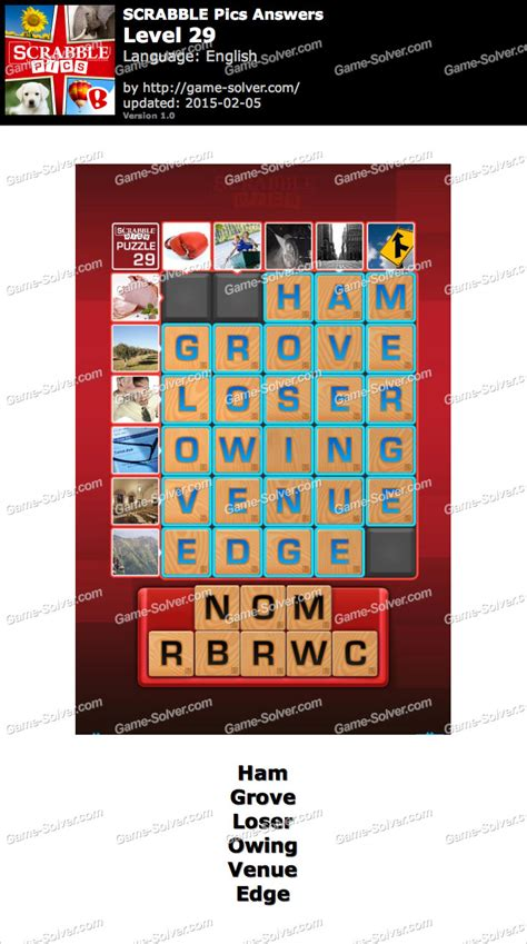 scrabble answer generator scrabble pics level 29 solver