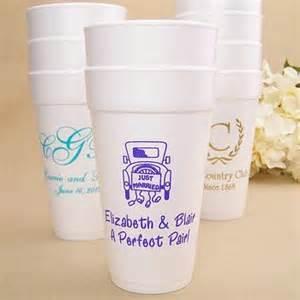 20 Oz. Custom Printed Styrofoam Wedding Cups
