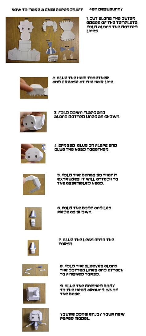 Papercraft How To - how to build chibi papercraft by tsunyandere on deviantart