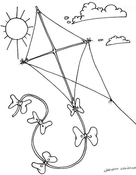 kite coloring pages preschool k for kite coloring page with handwriting practice free