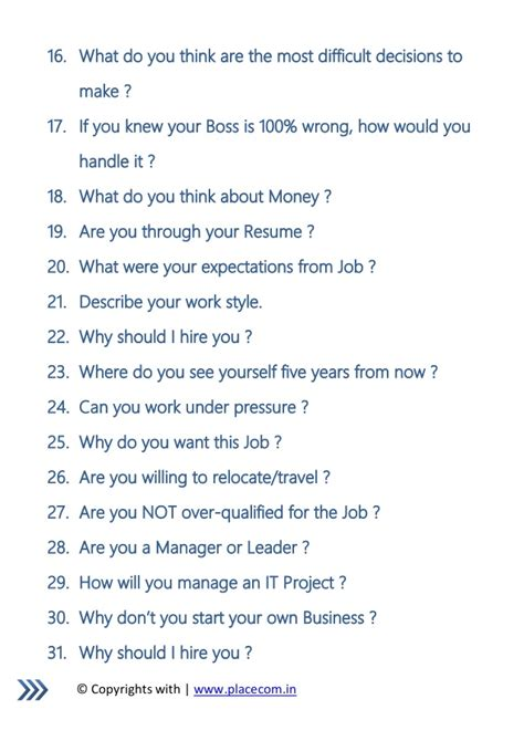 best answers to the top 10 most common interview questions