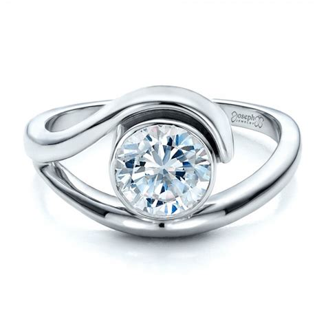 Contemporary Engagement Rings by Contemporary Split Shank Solitaire Engagement Ring 1479