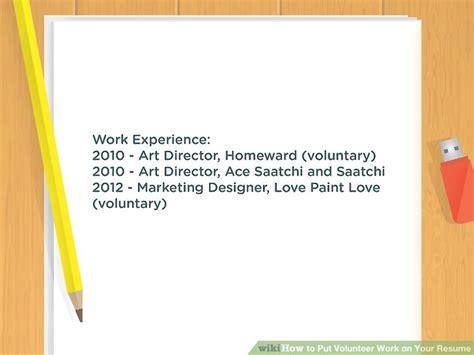 How To Put Volunteer Work On Resume