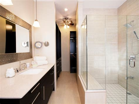 neutral small modern guest bathroom hgtv contemporary neutral bathroom randall waddell hgtv