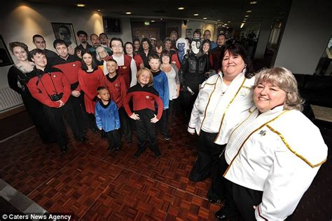 celebrate civil ceremony with trek themed service daily mail