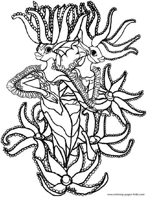 scary sea monster coloring pages coloring pages