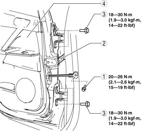 Mazda 3 Service Manual Rear Door Removal Installation