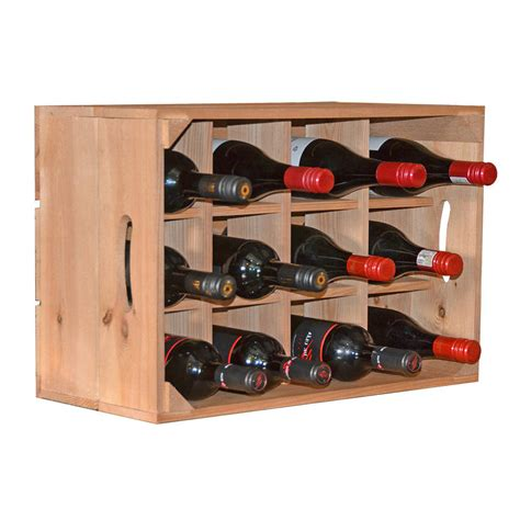 wine rack storage crate by plantabox notonthehighstreet
