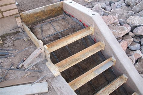 How To Build Concrete Steps m s concrete and metal works stairs at the concession building willow