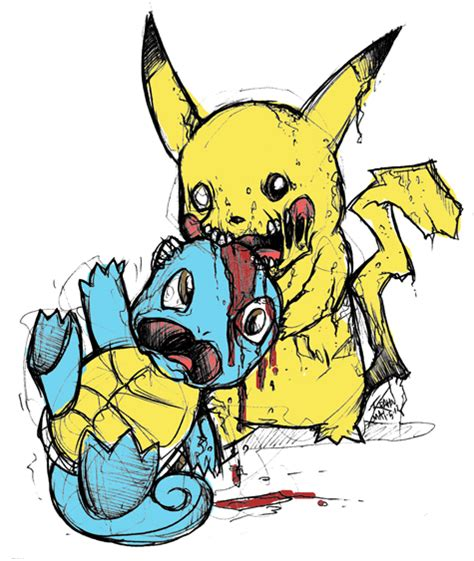zombemon 001 zombie pikachu by genghiskrahn on deviantart