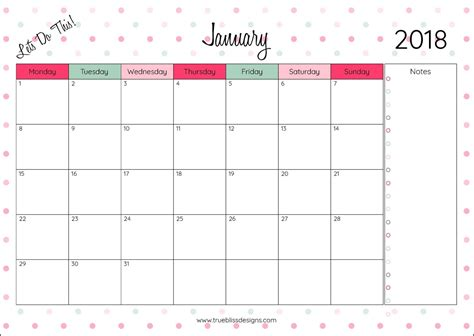 printable monthly calendar with design musings of an average mom 2018 calendars