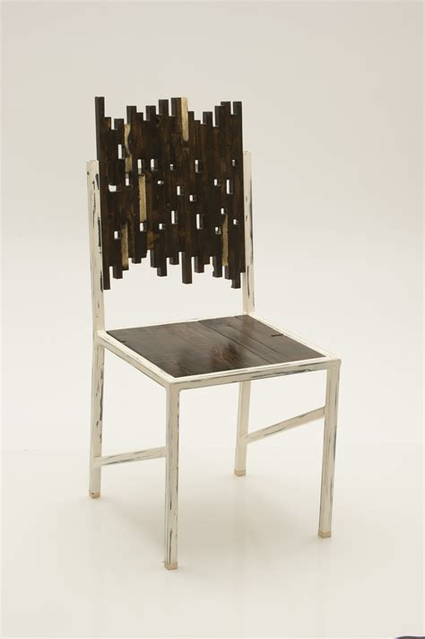 Metal Frame Dining Chairs Buy A Custom Reclaimed Wood With Distressed Metal Frame Dining Chair Made To Order From Yor