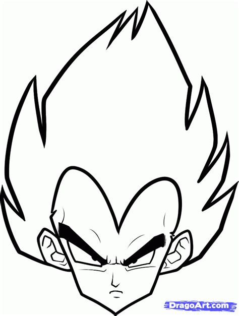 drawing easy how to draw vegeta easy step by step z characters anime draw japanese