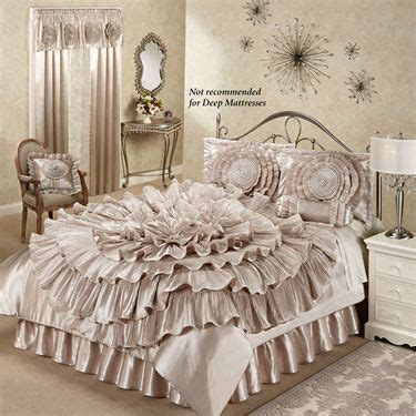 cream ruffle bedding cream ruffle bedding ruffled romance chagne rosette