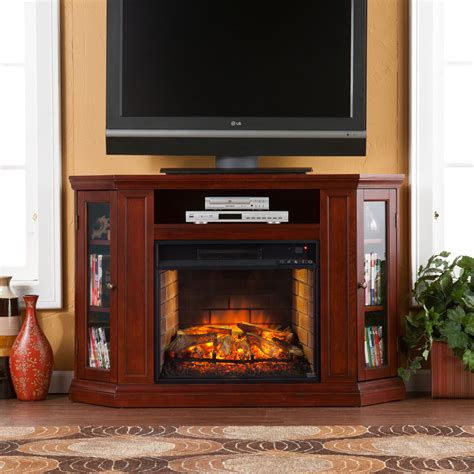 corner cabinet electric fireplace claremont wall or corner infrared electric fireplace media