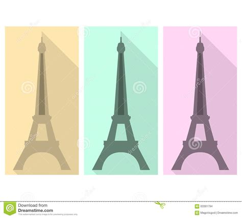 design art eiffel tower 7th flat eiffel tower flat icon stock vector image of national