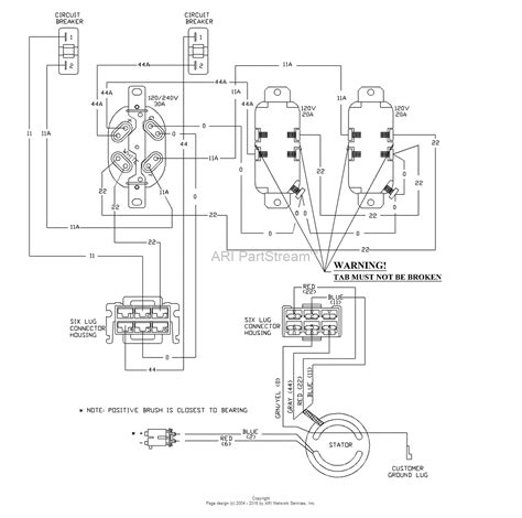 powerboss 7000 watt portable generator wiring diagrams