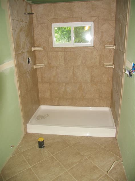 Stand Up Shower Ideas Stand Up Shower And Floor Tile Lake House