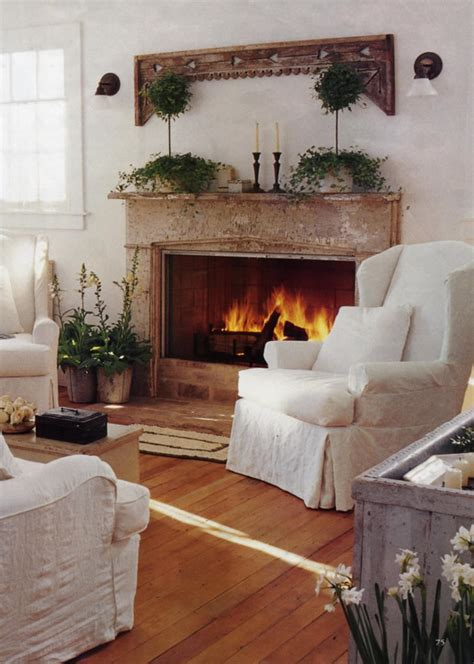 Cottage Fireplace Design by Interior Design Cottage Country Shabby Chic On