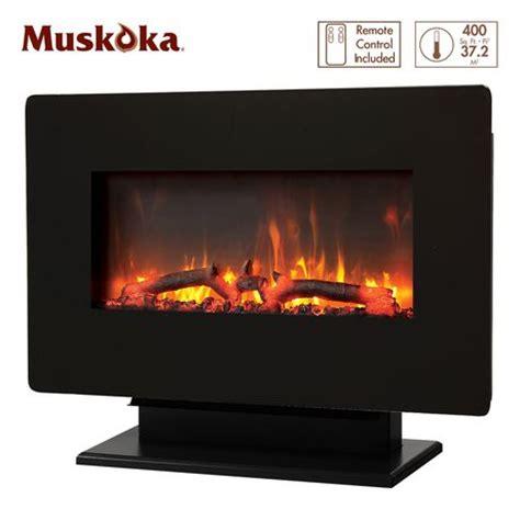 muskoka 27 quot wall mount electric fireplace walmart ca