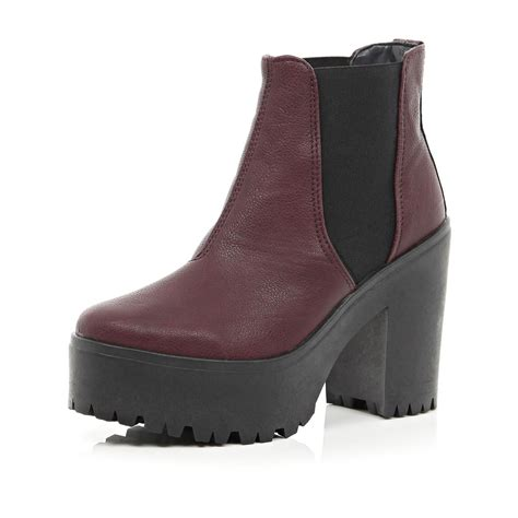 river island chunky platform chelsea boots in lyst