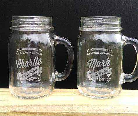 Custom Jar by Retro Personalized Jars With Handle Engraved Custom