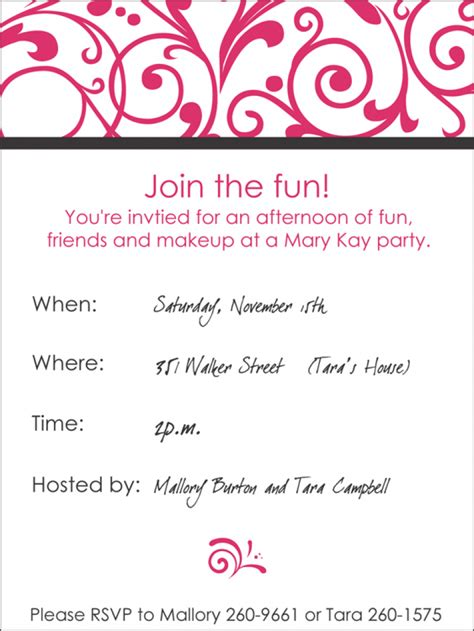 mary kay party invitations gangcraft net