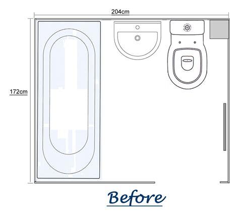 convert bathroom  shower room     floor space