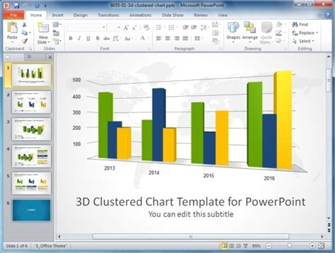 creating a 3d clustered column chart in excel 2010