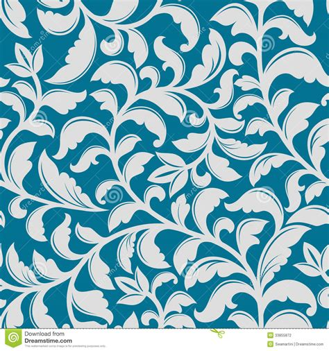 floral pattern in blue blue floral pattern stock photography image 33855872