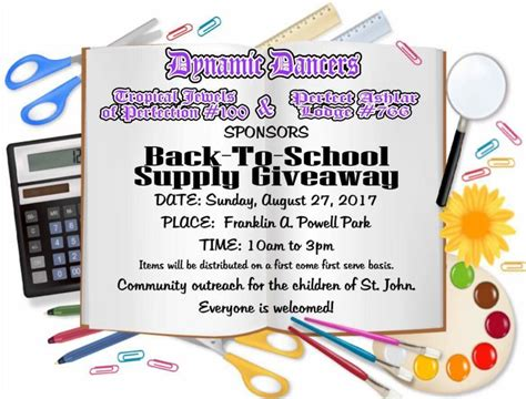 Back To School Giveaway 2017 Nyc - dynamic dancers to host back to school supplies giveaway st john tradewinds news