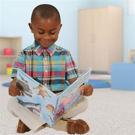 picture of child reading a book early childhood books kaplan early learning company