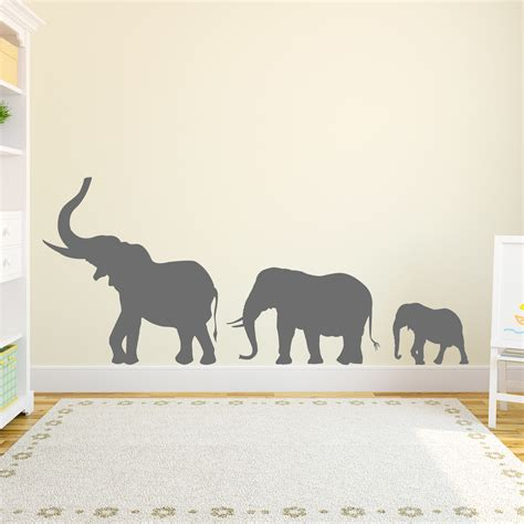 elephant wall stickers marching elephants wall decal
