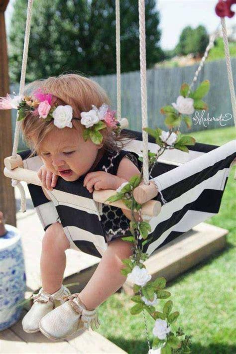diy baby swing amazingly diy patio and garden swings