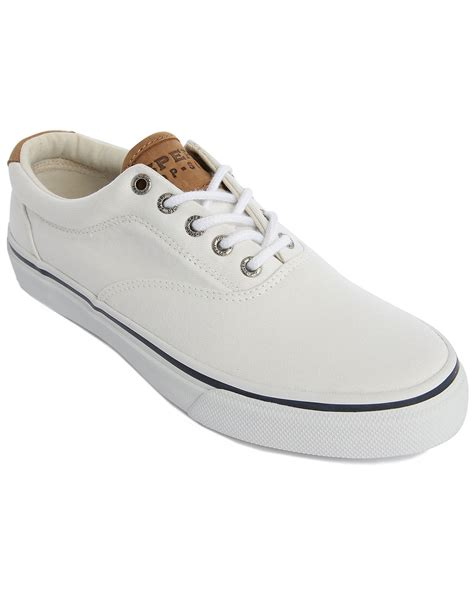 sperry sneakers mens sperry top sider striper white sneakers in white for
