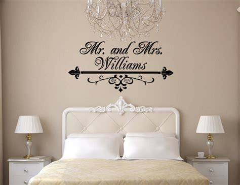 Mr And Mrs Home Decor | items similar to mr and mrs wall art vinyl black decal with flourish last name and wedding