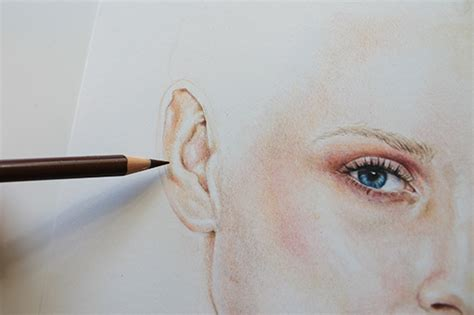 colored pencil skin tones painting with colored pencils creating a realistic look