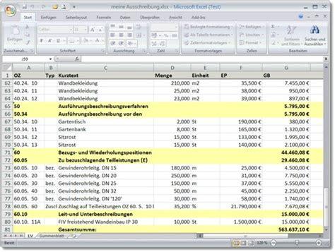 Angebot Vorlage Openoffice Vermittler Zwischen Gaeb Und Excel Gaeb