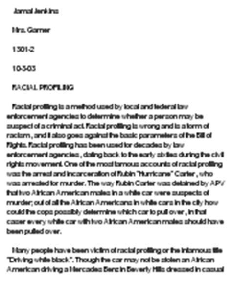 Racial Profiling Essay by Racial Profiling At Essaypedia