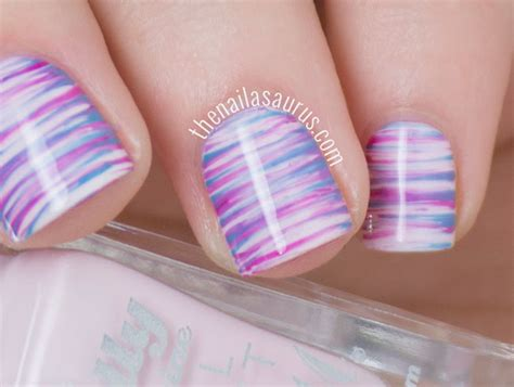 easy nail art with fan brush easter fan brush nail art the nailasaurus bloglovin