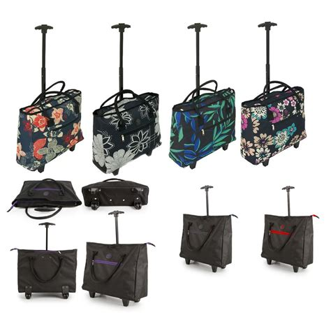 cabin bag with wheels lightweight wheeled shopping tote cabin bag trolley