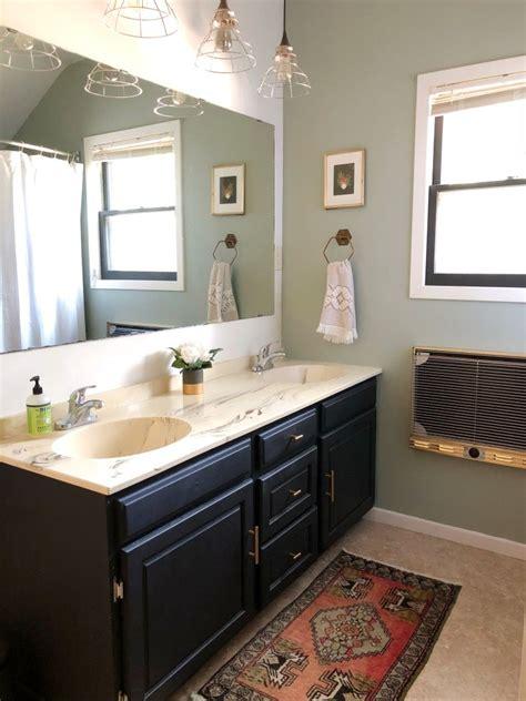magnolia home paint early riser  bathroom  black