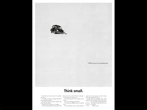 volkswagen think small volkswagen quot think small quot