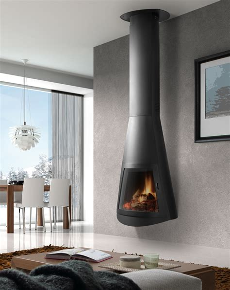 Wall Mounted Wood Burning Fireplace by 15 Gorgeous Freestanding Suspended Fireplace Design Ideas